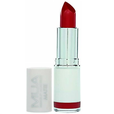 £2.98 • Buy Mua Matte Lipstick Scarlet Siren Deep Red Strongly Pigmented Long Lasting Sealed