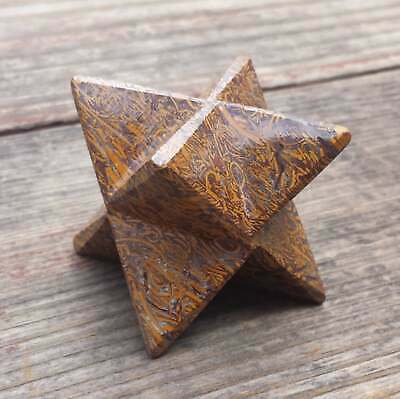 LARGE (50mm) CALLIGRAPHY STONE GEMSTONE MERKABA STAR (ONE) - BUY IT NOW • 12.66£