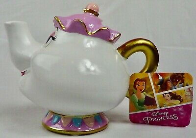 Disney Princess Mrs Potts Teapot Coin Money Box, (Beauty And The Beast), New • 9.50£