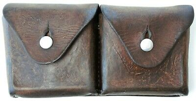 Swiss Army Leather Ammo Pouch Dated 1946 • 30.02£