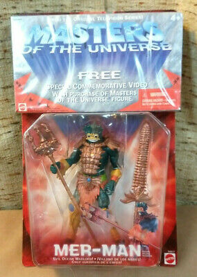 $20 • Buy NEW MOTU MER-Man Masters Of The Universe 2001 Mattel With VHS Tape
