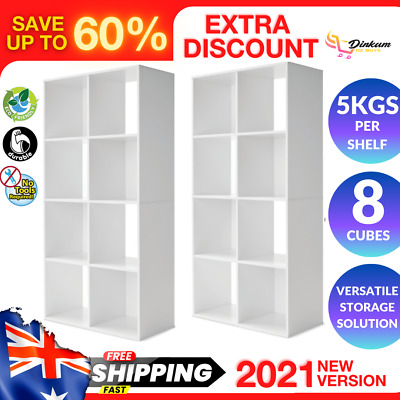 AU64.30 • Buy 8 Cube Storage Shelf DIY Cabinet Cupboard Organizer Bookshelf Display Unit Whte