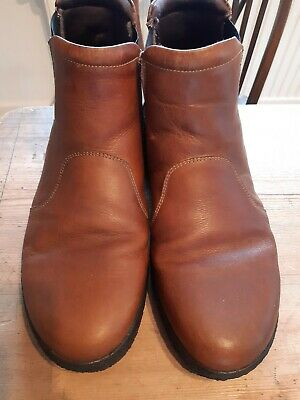 Mens Leather Softwalk Chelsea Style Boots - Size 46 - Made In Portugal  • 15£