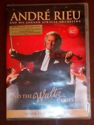 ANDRE RIEU 'And The Waltz Goes On' Vienna City Of My Dreams ANTHONY HOPKINS • 4.95£