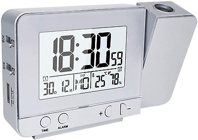 OurLeeme Projection Clocks, Electronic Alarm Clocks Wall Projection Time LCD • 25.37£