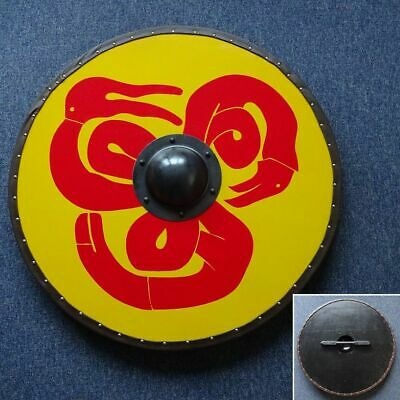 30  Hand Made Large Round Viking Serpent Timber Shield - Re-enactment Stage • 70£