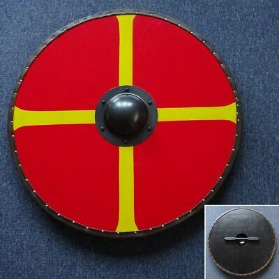 30  Hand Made Large Round  Quartered  Timber Viking Shield - Re-enactment Stage • 72£