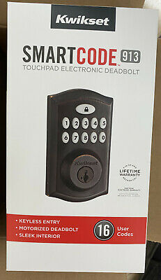 $ CDN94.94 • Buy Kwikset SmartCode 913 Venetian Bronze Single-Cylinder Smart Electronic Deadbolt