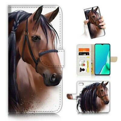 AU12.99 • Buy ( For Oppo A57 ) Wallet Flip Case Cover AJ24120 Horse
