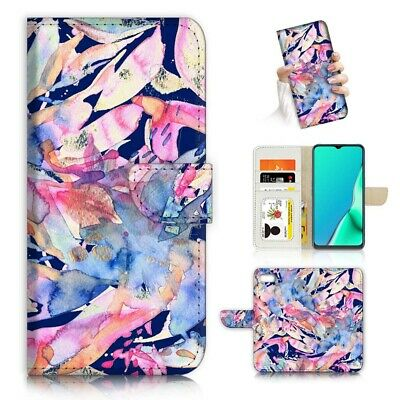 AU12.99 • Buy ( For Oppo A57 ) Wallet Flip Case Cover AJ24076 Abstract