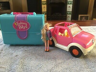 Vintage Fashion Polly Pocket With Car And Clothing • 15£