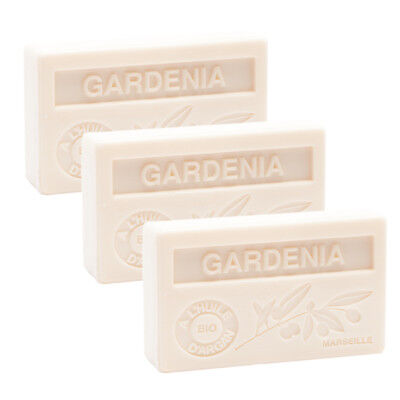 3 X 100g  Gardenia French Soaps - With Argan Oil - Savon De Marseille • 9.95£