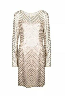 GUESS Sequin Gold Party Mini Dress BNWT UK6 Rrp. £100 • 1.20£