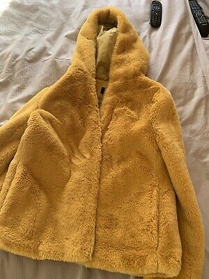 Ladies Mustard Marks And Spencer Coat Size 14 • 2£