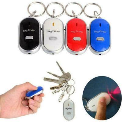 Key Finder Anti-Lost Whistle Find Locator Keychain Sound Control LED Torch Flash • 2.43£