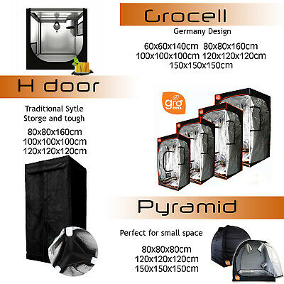 AU139.99 • Buy Hydroponics LED Grow Light Tent Mylar Grow Room For Ventilation Kit Grow System