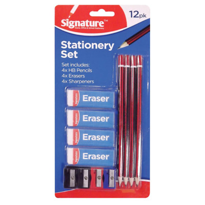 £2.10 • Buy School Stationery Set ,Pencils, Erasers Sharpeners Stationary Pencil Pen Office