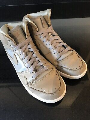 NIKE Court Force SP Trainers - Beige Leather, Size 5 • 12£