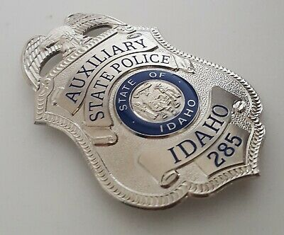£18.99 • Buy Obsolate Historical Usa Police Badge ... AUXILIARY State Police Idaho No.285