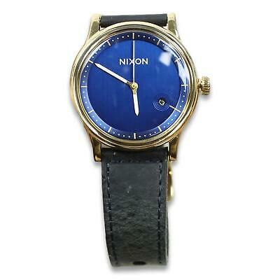 £32.79 • Buy Nixon The Station Leather Watch Black Gold Blue One Size New