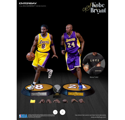 $20.50 • Buy ENTERBAY NBA Collection KOBE BRYANT LA LAKERS 1/6 Real Masterpiece Figure 2-Pack