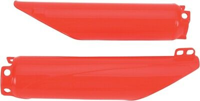 $32.63 • Buy UFO Red Fork Guards For Honda CR 125 250 500 98-07, CRF 250 04-09, 450 02-08