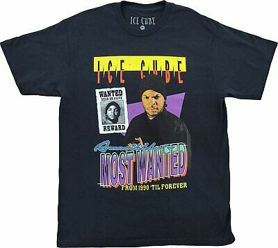 New Men's Ice Cube Amerikkka's Most Wanted Dead Or Alive Hip Hop Rap T-Shirt Tee • 11.34£