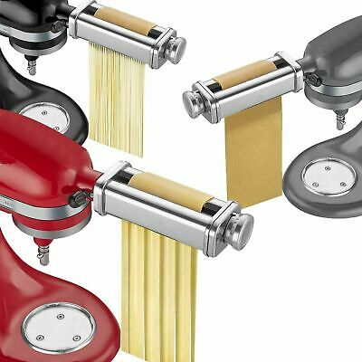 £28.99 • Buy Stainless Steel Pasta Roller & Cutter Set Attachment For KitchenAid Stand Mixers