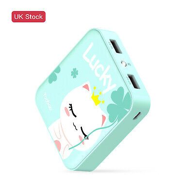 Yoobao 10000mAh Cute Portable Charger Power Bank For Cellphone & Tablet UK Stock • 8.99£