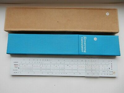 Blundell Armstrong Calculator Slide Rule And Case With Original Outer • 3.99£