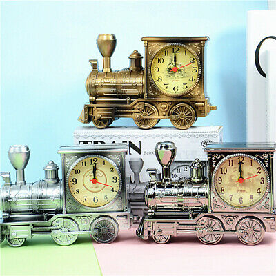 Train Model Alarm Clock Creative Home Birthday Gift For Boy Xmas Cool Clock Gift • 7.95£
