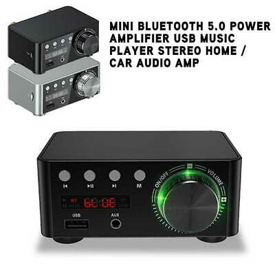 Bluetooth 5.0 USB Power Amplifier Mini Music Player Stereo Home Car Audio New UK • 20.95£
