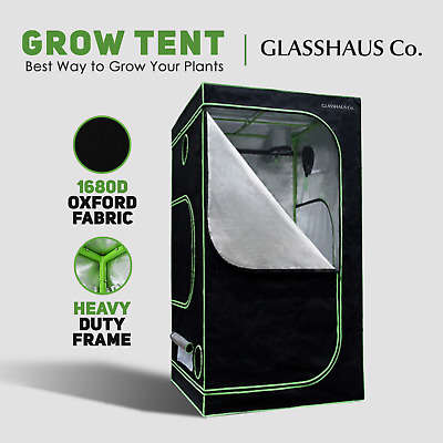 AU79.90 • Buy Glasshaus Grow Tent Kits Real 1680D Oxford Hydroponic Indoor System 60x60x140