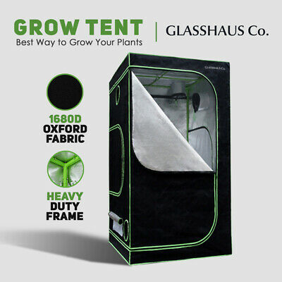 AU98.90 • Buy Glasshaus Grow Tent Kits Real 1680D Oxford Hydroponic Indoor 90x90x180