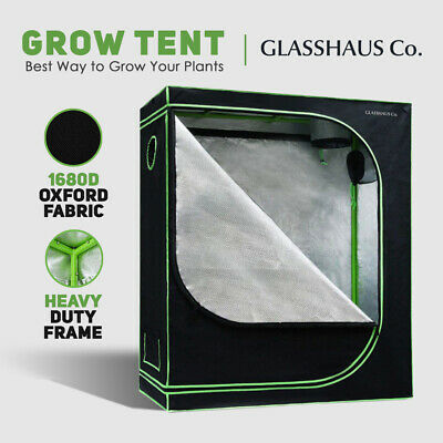 AU106 • Buy Glasshaus Grow Tent Kits Real 1680D Oxford Hydroponic Indoor 120x60x150