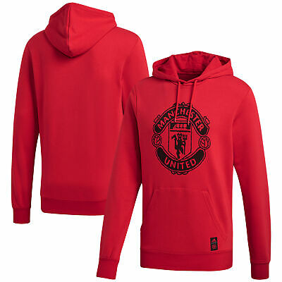 Mens Adidas Manchester United DNA Casual Sport Football Hoody Hoodie Top - Red • 54.95£
