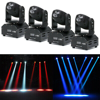 4x 4in1 RGBW Stage Lighting Effect Disco DJ LED Moving Head DMX Spot Party Light • 70£