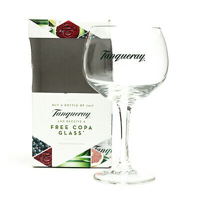 Tanqueray Copa Goblet Glass Gin Cocktail Wine Boxed New Balloon Gift Present • 5.35£
