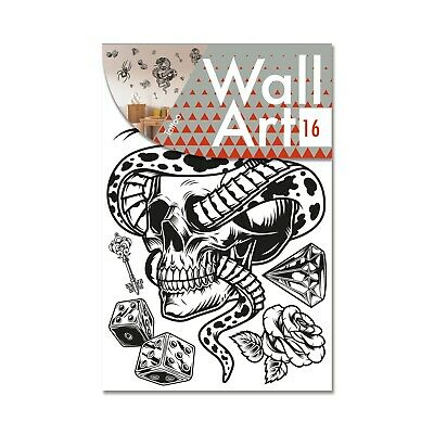Decor Wall Art Stickers - Tattoo Skull • 9£