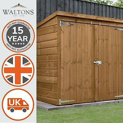Wooden Garden Mower Log Tool Store Shed 5x3 Outdoor Storage Pent Roof 5ft 3ft • 219.99£