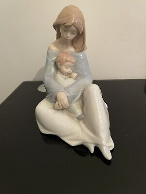 Nao Lladro Large Figurines Mother And Son • 9.70£