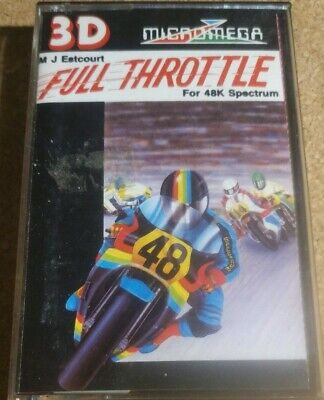 Full Throttle By M J Eatcourt Sinclair Spectrum 48K Game Micromega • 5.50£