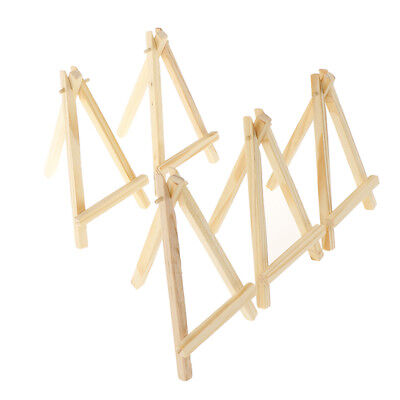 5pcs Mini Artist Wooden Easel Wood Wedding Table Card Stand Display HolderVT • 4£