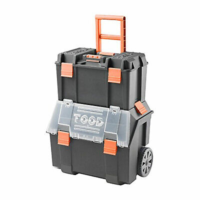 View Details TOOD Detachable Rolling Tool Box Organizer Storage Bin Set With Removable Trays • 36.38$