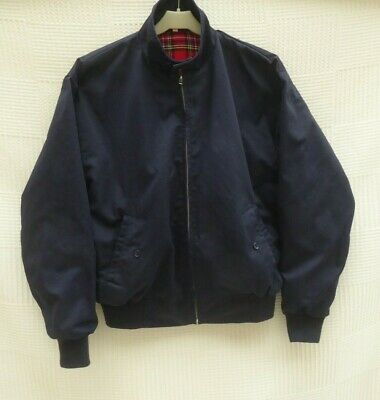 Relco London Navy Mens' Zip Fasten Harrington Jacket Label XS Size Chest 34 - 36 • 14.99£