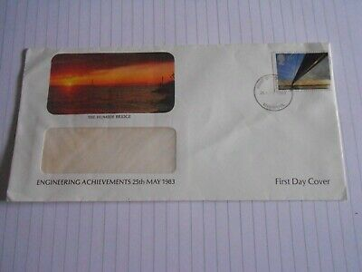 First Day Cover The Humber Bridge Engineering Achievements 1983 • 1£