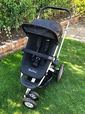 Quinny Buzz 3 Wheeler Pram/pushchair + Dreami Carrycot + Extras, Good Condition • 40£