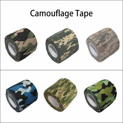 £6.69 • Buy Camo Tape Adhesive Camouflage Stealth Rifle Gun Wrap Hunting Stealth Re-Useable