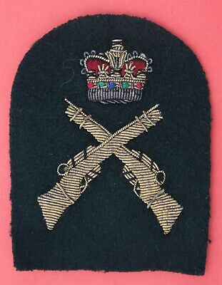 Royal Marines 1st Class Personal Weapons Lovat Bullion SQ Qualification Badge  • 7£