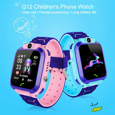 AU19.73 • Buy Q12B Waterproof Kids Smart Watch Touch Screen Tracker SOS Call For Android IOS